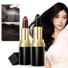 Professional Hair Chalk Lipstick Hair Color Pen Non-toxic Shea Butter In Cover White Crayon Temporary Hair Dyeing