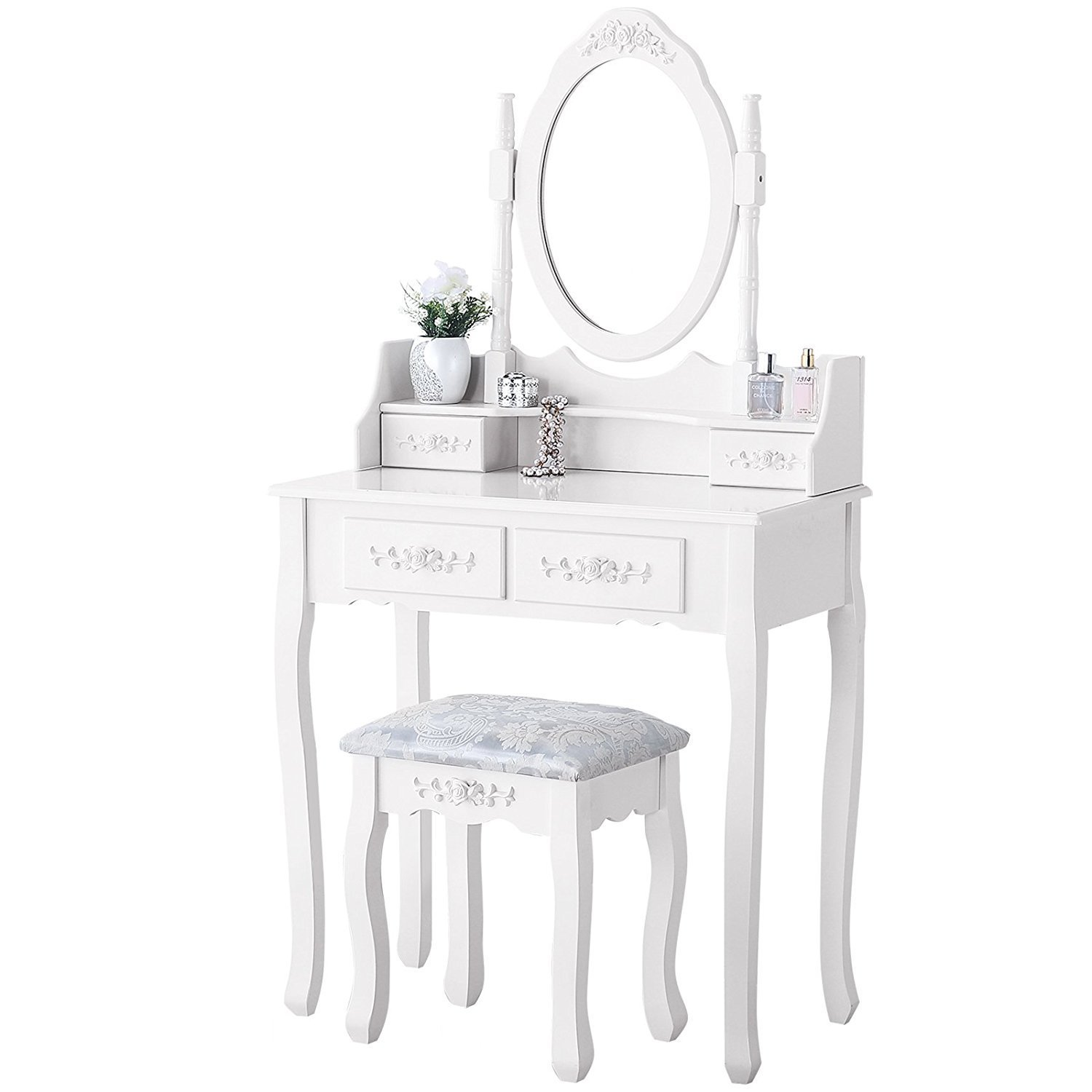 محادثة مائع تلقيح White Dressing Table With Mirror And Drawers Cabuildingbridges Org