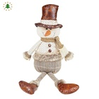 Top selling new items novelty table christmas santa reindeer snowman decorations