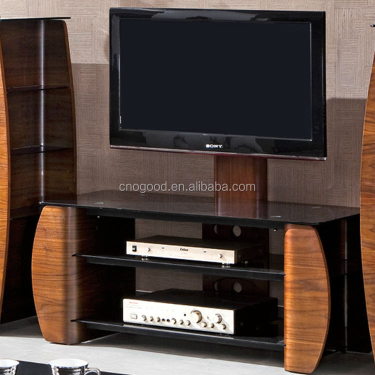 Wood Furniture Led Tv Stand Set