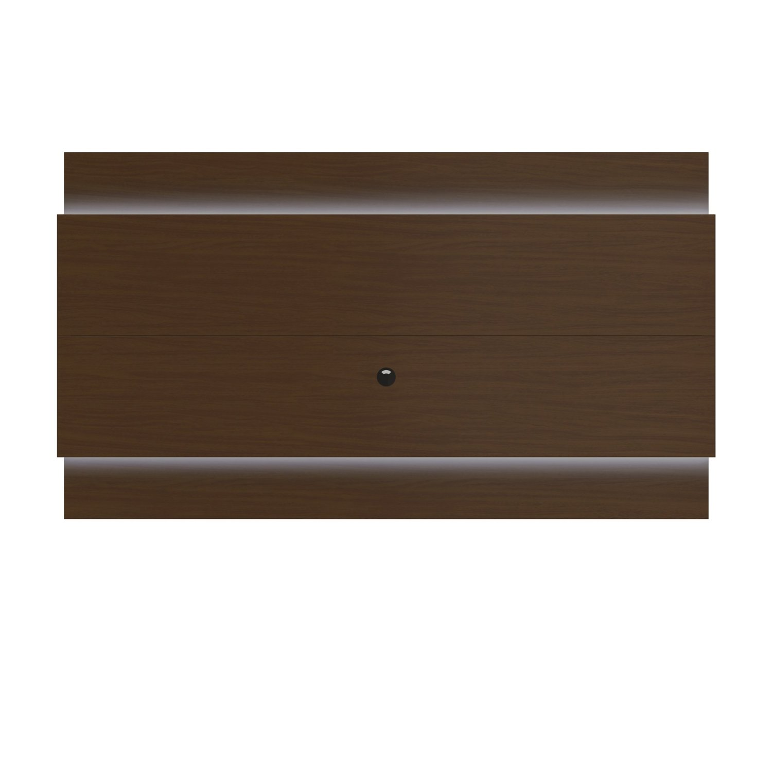 Manhattan Comfort Lincoln Floating Wall TV Panel 2.4 Collection Entertainment Center with TV Mount and LED Lights, Nut Brown
