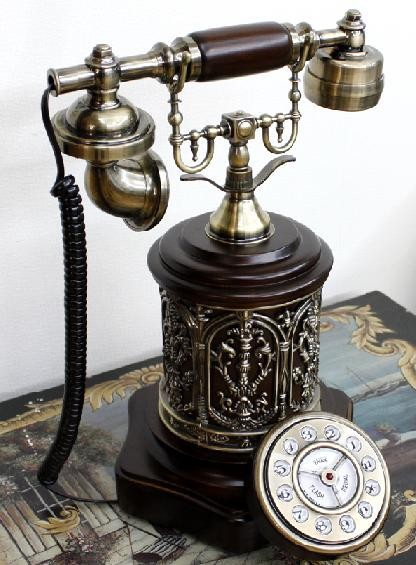 Popular Style Wooden telephone desk stand antique phones