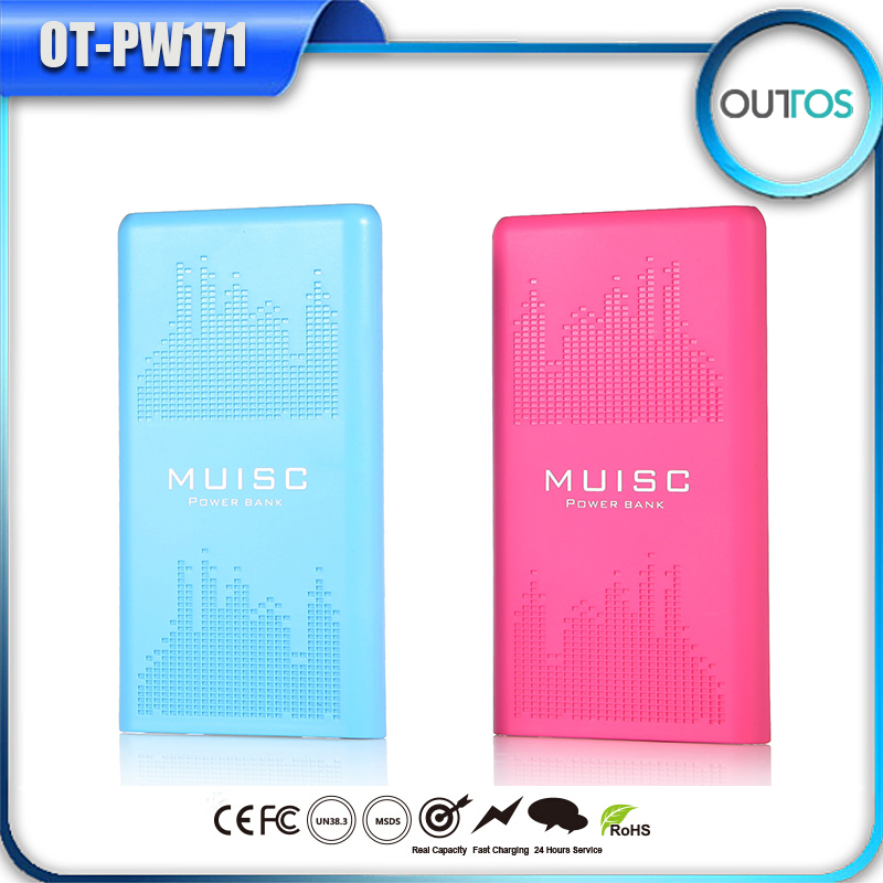 Music Dual USB Power Bank 10000mAh Cell Phone Batteries