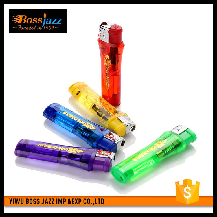 Factory supply different types plastic regular flame lighter