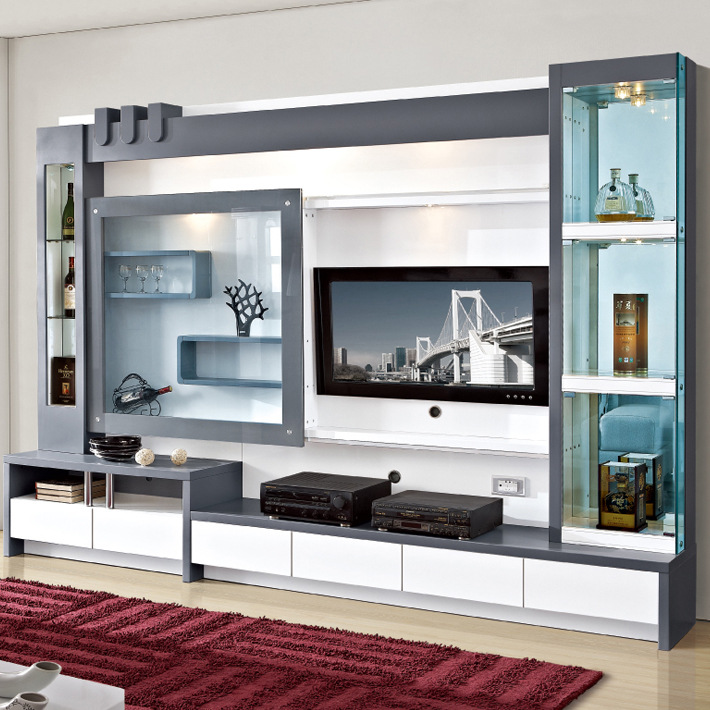 Living room furniture wood lcd tv wall unit design buy lcd for Lcd unit design for living room