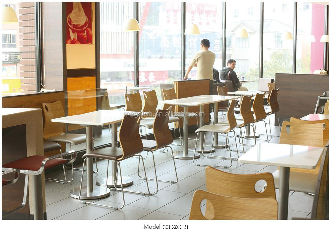 Newest style modern fast food restaurant furniture table