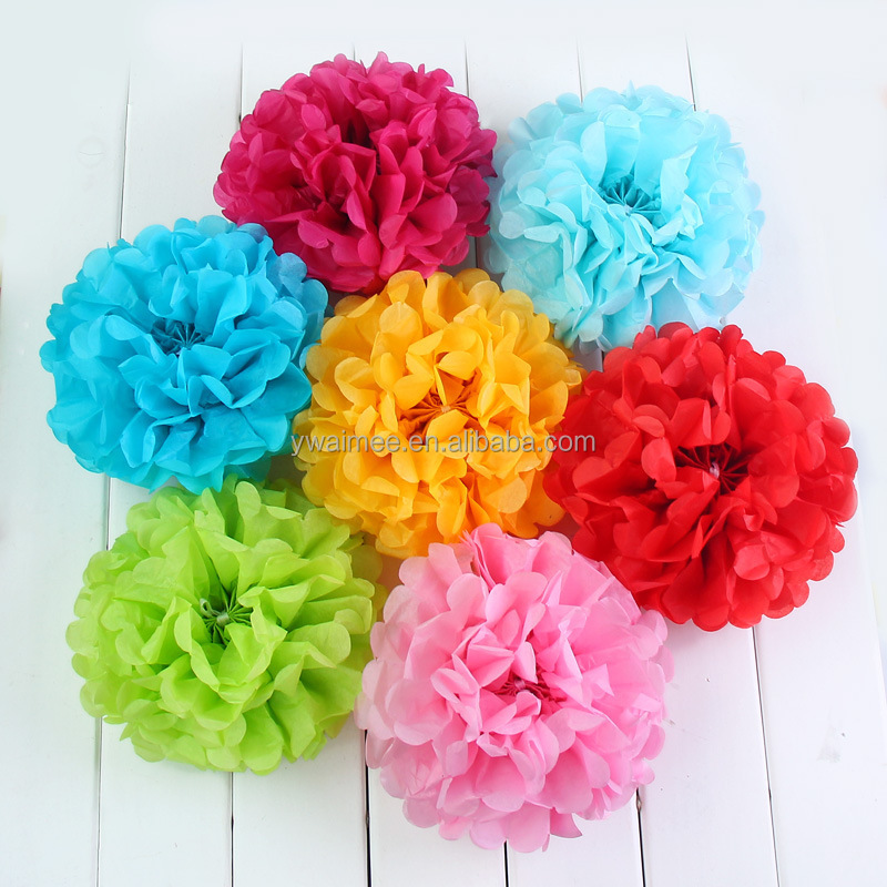 Paper Decoration Balls Unique Yiwu Aimee Supplies Wholesale Different Size Tissue Paper Pom Poms Design Decoration