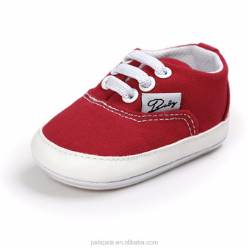Wholesale Factory Red Baby Boy Canvas Shoes Soft Bottom