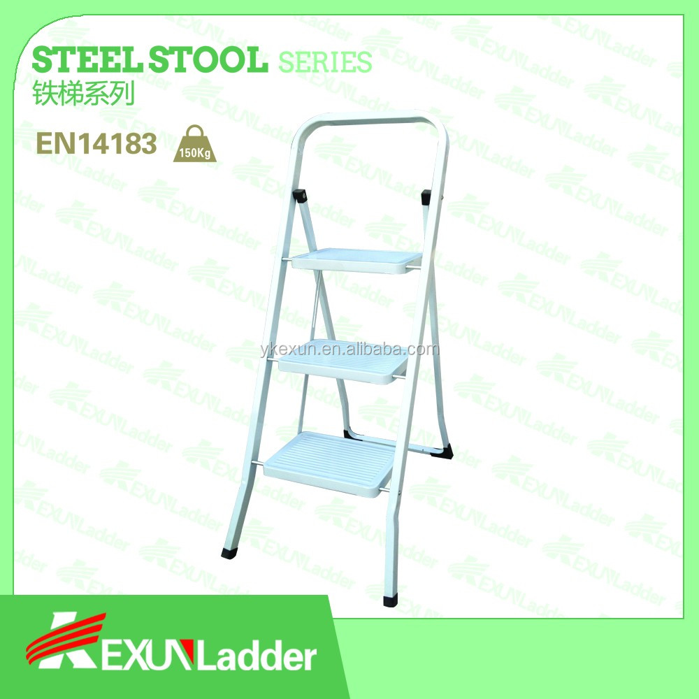 EN14183steel folding step insulated household ladder