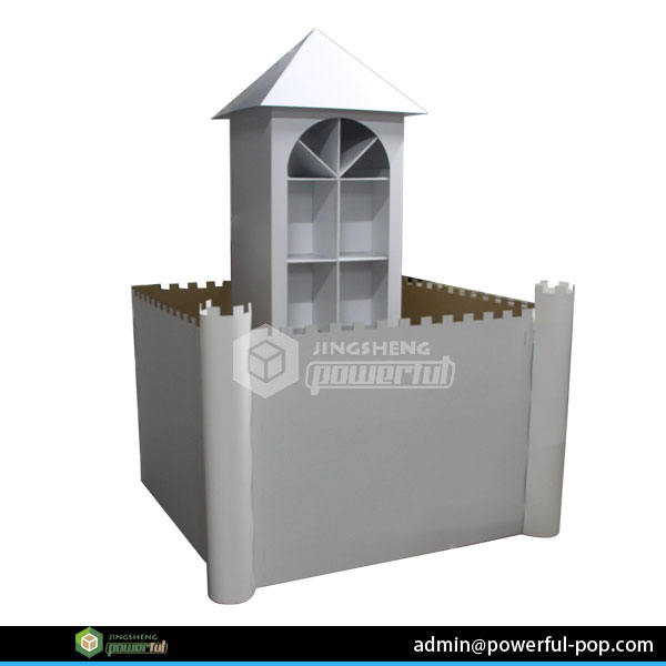 powerful china supplier cardboard house for kids display stand