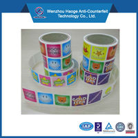 Fashion cartoon roll stickers wholesale & paper roll sticker, customized kids sticker rolls
