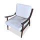 Foshan Bedroom Luxury Furniture Fabric Seat Wood Arm Lounge Hotel Room Chair