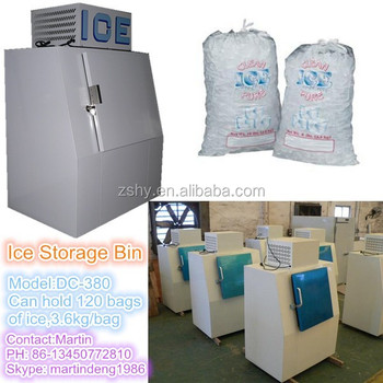 Single Slant Door Cold Wall Outdoor Bagged Ice Merchandisers with -12 degrees