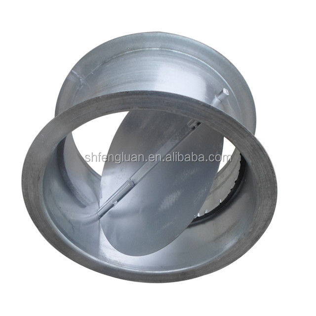 hot sale galvanized steel air ducting round volume control damper