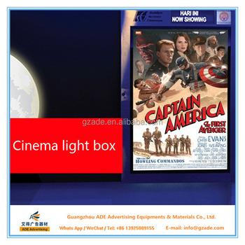 Factory Price Aluminum Led Poster Frame Light Frame For Movie Poster ...