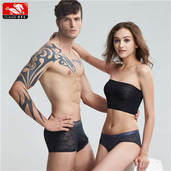 1c2f43433f Underwear For Couple Lover Sets Sexy Transparent One Piece Seamless  Men s Women s Boxer Briefs