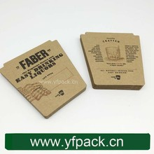 Double Side Printing Natural Brown Kraft Absorbent Paper Coffee Coaster