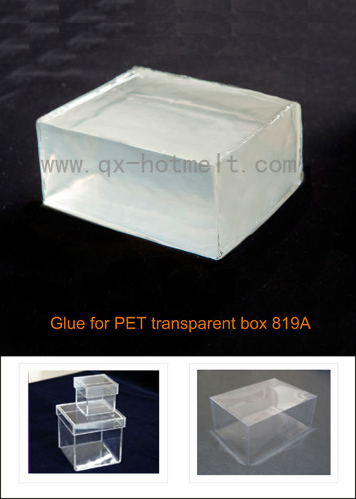 high quality PET transparent box glue