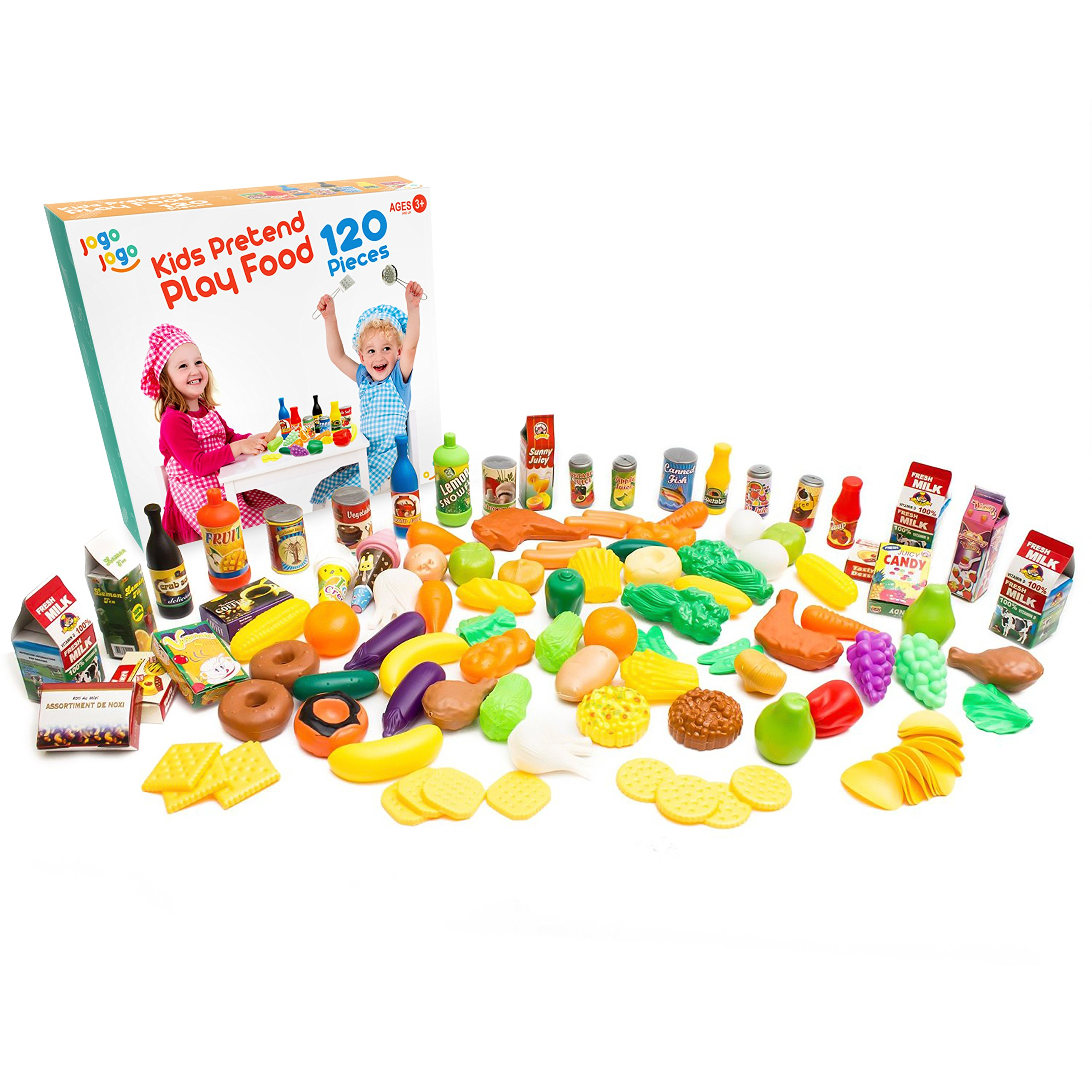 Jogo Jogo Kids Pretend Play Food 120-Piece Set