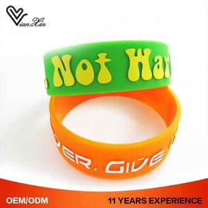 Rubber Wristband Promotion Custom Silicone Charm Bracelets Woman