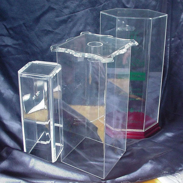 Fancy acrylic wine glass packaging boxes from Chinese suppliers