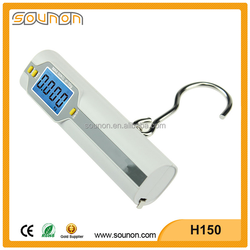 Weighing Luggage Scale 50kg Cheap Digital Travel Scale with Tape Measure Dongguan Sounon