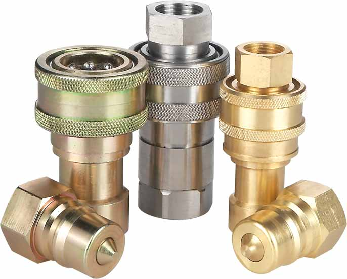 "hydraulic fitting quick coupler 3/8"" NPT"