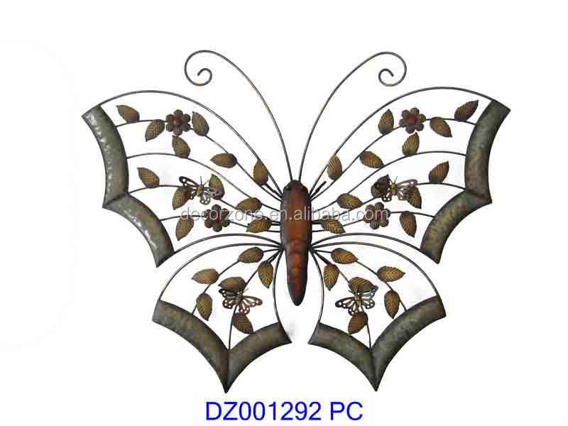 M tal papillon en fer forg d coration murale buy - Decoration murale fer forge ...