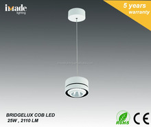 Latest DesignCOB Pendant Light 25w 2110Lm BRIDGELUX LED IP20 CE