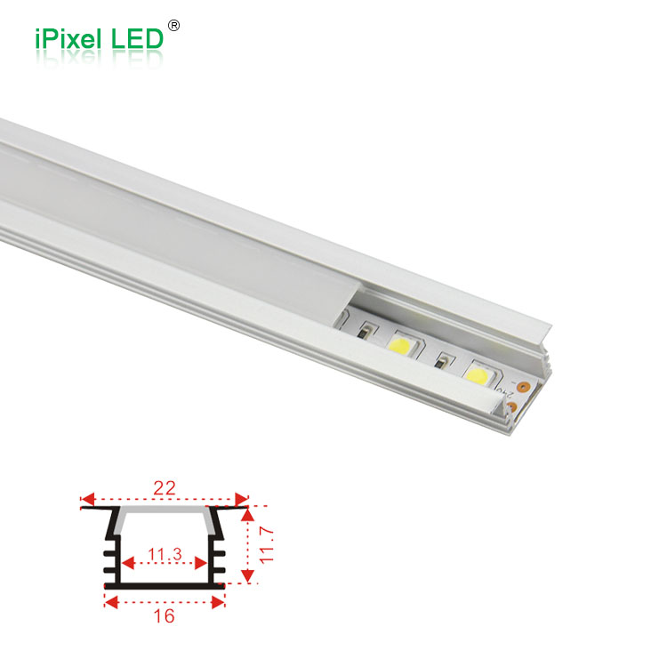 Ultra thin recessed heat sink led aluminum profile with led strip for LED lighting