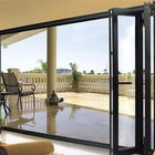 Topwindow China Supplier Double Glazed Aluminium Bi Folding Doors Entry Doors Glass Bi-Folding Exterior Door Pakistan