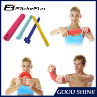 2016 Arm Muscular Strength Trainer Stretch rubber Resist Exerciser Bar Power Twister