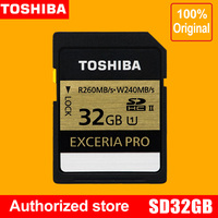toshiba exceria pro SDHC storage card 32G Extreme speeding UHS/Class 10 read 260M write 240M