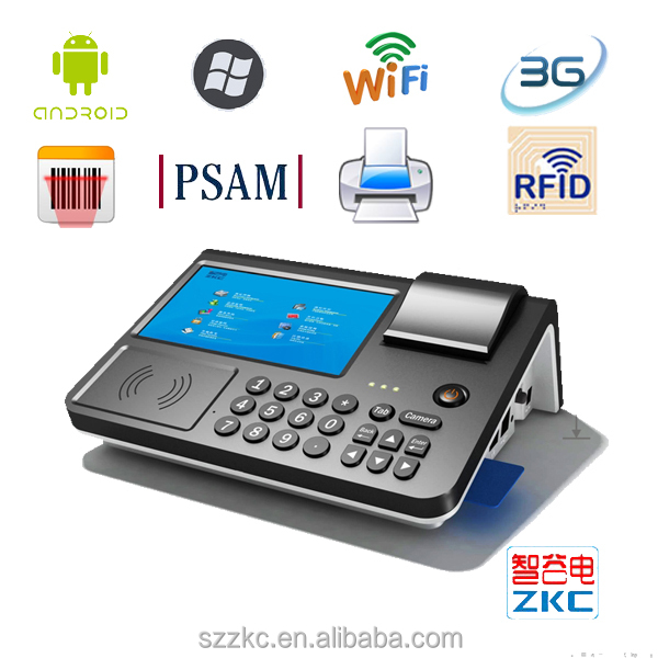 wireless android pos terminal for airtime top up machine, bill payment machine, ticket issue machine