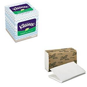 KITKIM01700KIM25829BX - Value Kit - KIMBERLY CLARK KLEENEX Lotion Facial Tissue (KIM25829BX) and KIMBERLY CLARK SCOTT 1 Fold Paper Towels (KIM01700)
