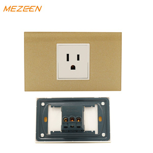 Stocks promotion items 3hole Acrylic+Copper electric household wall switch and socket