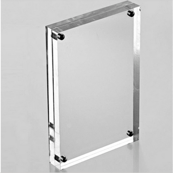 Clear Acrylic Square Magnetic Photo Frame/lucite Plexiglass Picture ...