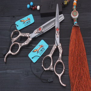 F04 Best professional hair cutting stainless steel barber scissors