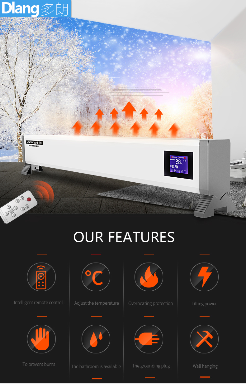 Home heater variable-frequency yoga room use energy-saving electric heater