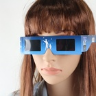 paper eclipse glasses funny paper glasses hologram logo paper glasses