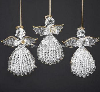 wholesale glass hanging angelchristmas tree hanging angel ornaments