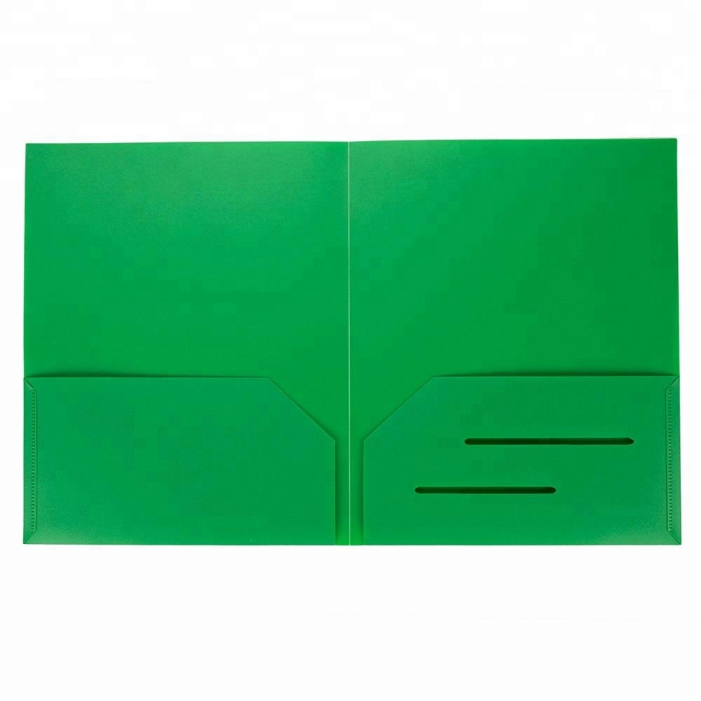 Presentation File Folder For Office And School PP Plastic 2 Pocket Folder With Card Holder