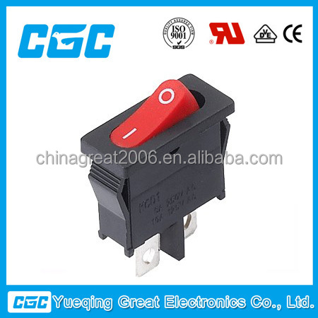 CGC 10A 250V KCD1-101-12 CE certificate round rocker switch