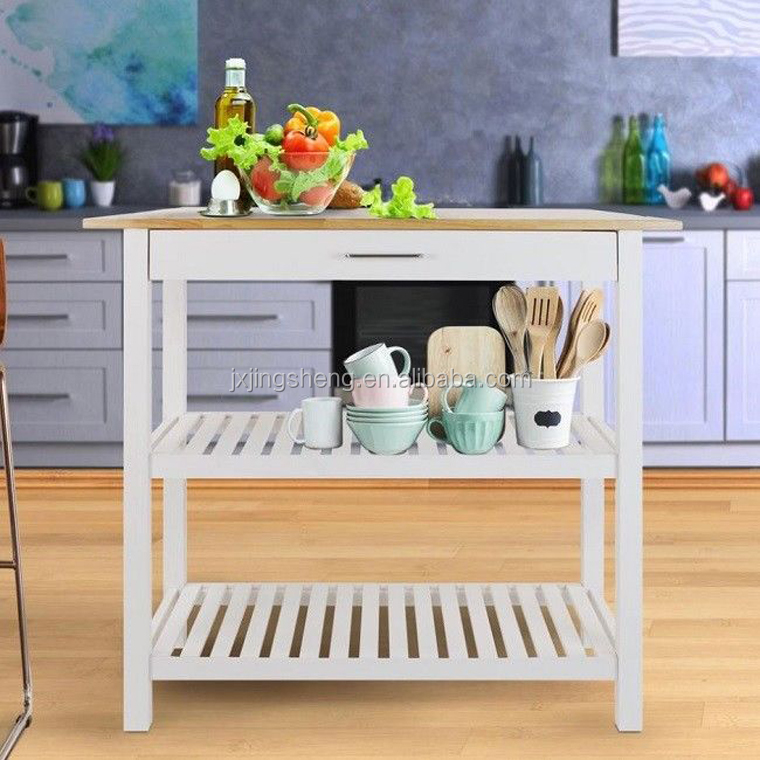 Modern Kitchen Cabinets Island Cart Utility Table Organizer Wood Storage  Shelf Food Prep Counter Pantry Cupboards - Buy Kitchen Furniture,Pantry ...