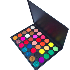 Free sample natural high pigment shimmer 35 colors eyeshadow 35 colors warm eyeshadow palette
