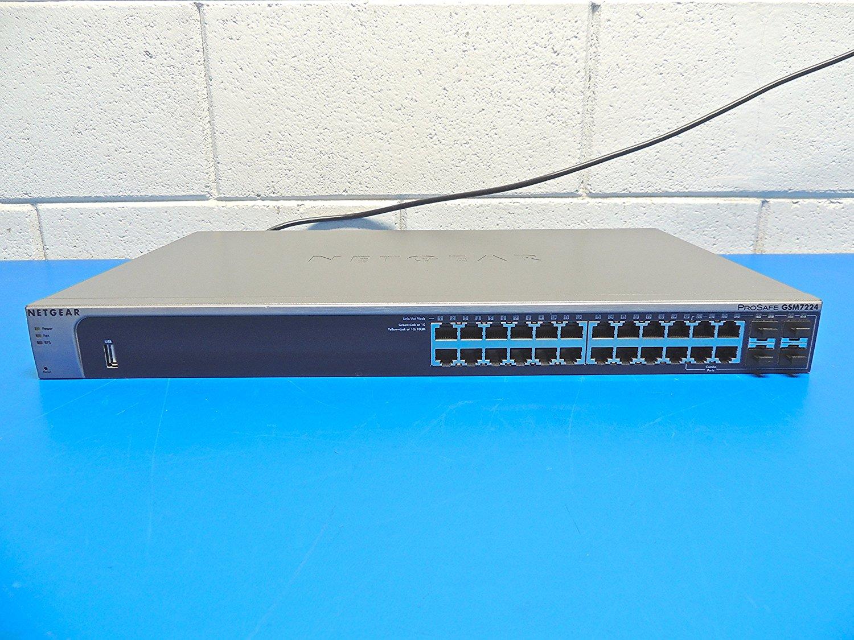 Netgear ProSafe GSM7224 Ethernet Switch - 24 Port - 4 Slot PROSAFE 24PORT GIGABIT L2 MANAGED SWITCH 24 - 10/100/1000Base-T - 4 x SFP (mini-GBIC)