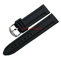 18 20 22 24 26 28 30mm Montblanc Classic Black Thickness Silicone Sport Watch Bands Straps Fits panera