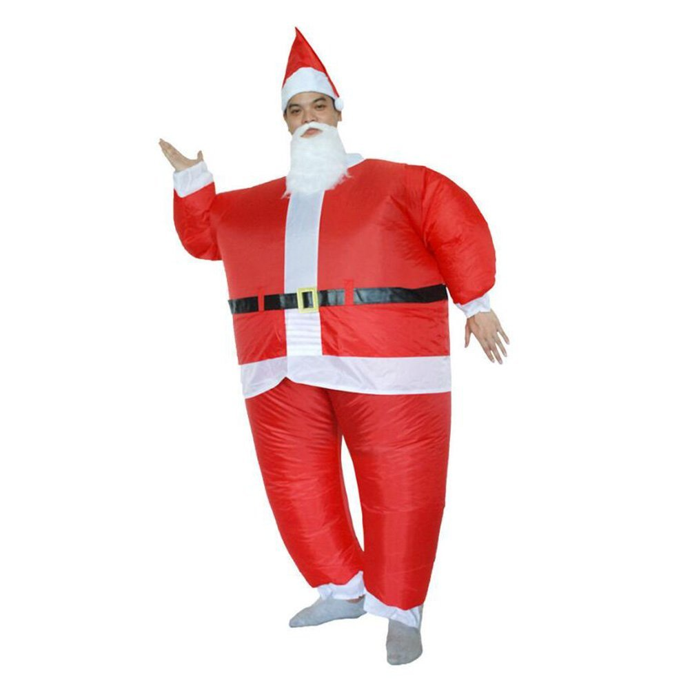 Inflatable Fancy Piggyback Blow Up Santa Claus Costumes Adult Carry On Animal Fancy Dress Costumes Inflatable Halloween Christmas Dress Costumes by Drop Love H.C