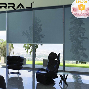rraj one way view roller blinds with sunscreen fabric. Black Bedroom Furniture Sets. Home Design Ideas