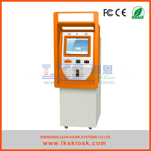 bill payment machine indoor outdoor kiosk with wheels